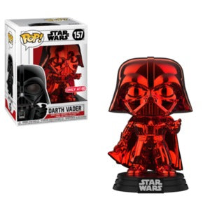 Funko Pop! Star Wars RED CHROME DARTH VADER (Target Exclusive) - Brads Toys