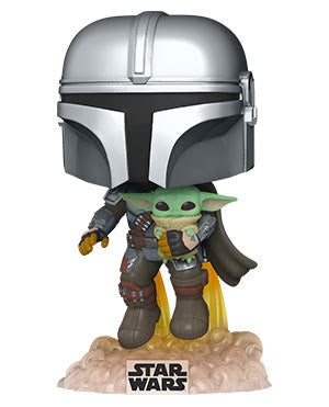 Pop! Star Wars MANDO FLYING w/JET PACK (The Mandalorian)(Available for Pre-Order)