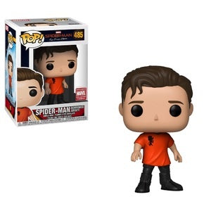 Funko Pop! Marvel #485 SPIDER-MAN Borrowed Jersey (Spider-Man Far From Home) Marvel Collector Corps Exclusive - Brads Toys