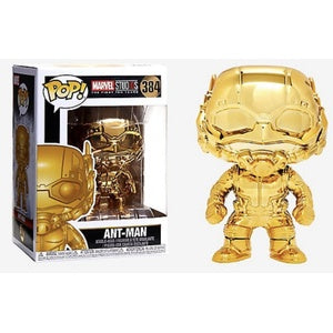 Funko Pop! Marvel #384 ANT-MAN Gold Chrome (Marvel Studios Ten Years) - Brads Toys