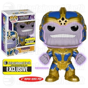 Funko Pop! Marvel #78 THANOS Glows in the Dark (Guardians of the Galaxy) Entertainment Earth Exclusive - Brads Toys