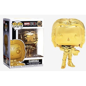 Funko Pop! Marvel #382 GAMORA Gold Chrome (Marvel Studios Ten Years) - Brads Toys