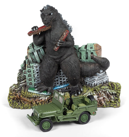 Johnny Lightning Silver Screen Machines Godzilla Ground Assault! WILLY'S MB JEEP