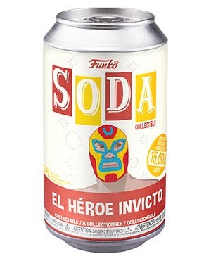 Vinyl Soda IRON MAN w/Chase (Luchadores)(Marvel)(Available for Pre-Order)