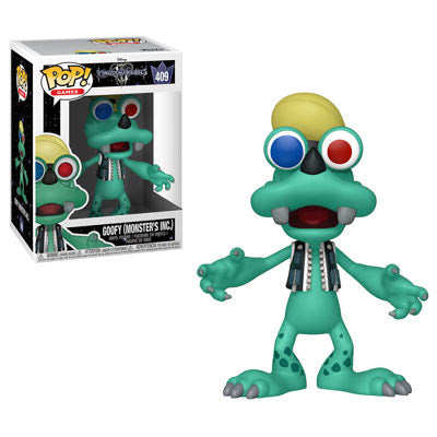 Funko Pop! Games #409 GOOFY Monsters, Inc. (Kingdom Hearts)(Available for Pre-Order)