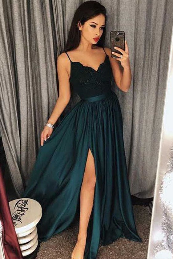 Sexy Prom Dress With Slit, Prom Dresses, Graduation Party Dresses, Formal Wear, Pageant Dress pst1772