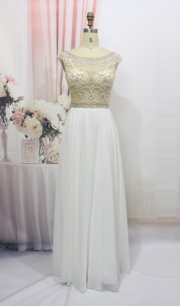 Chiffon Prom Dress With Stones and Crystals Prom Dresses pst1315
