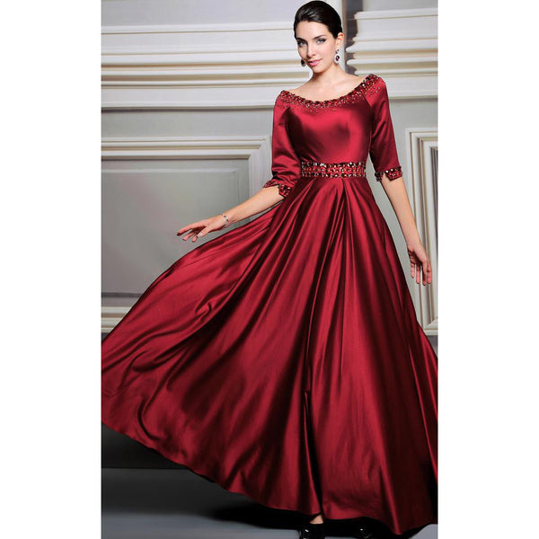Red Prom Dress Prom Dresses Evening Party Dress With Sleeves IN Stock 31260