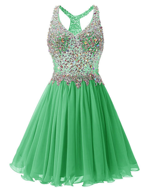 2017 Beaded Homecoming Dress Short Prom Dresses Wedding Party Dresses