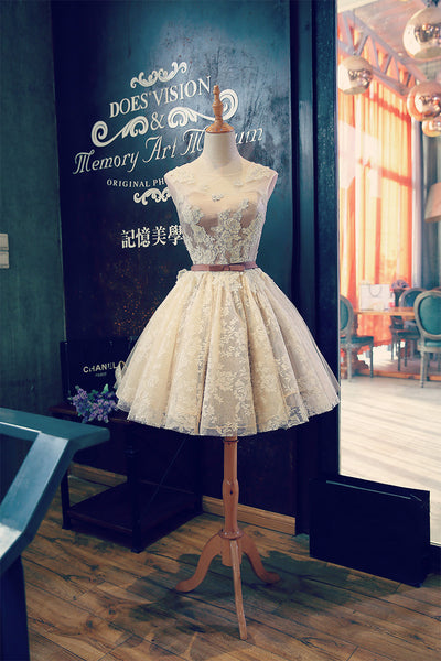 Tulle Homecoming Dresses, Short Lace Prom Dresses, Banquet Dresses, Wedding Party Dresses