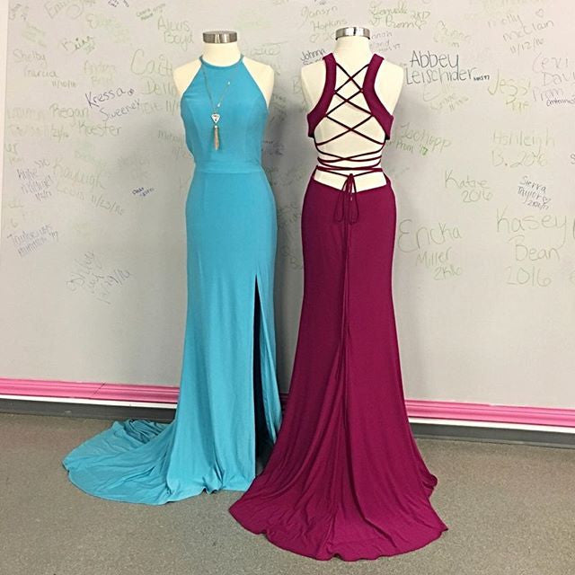 Halter Neckline Prom Dresses Wedding Party Dresses Evening Dresses Banquet Dresses
