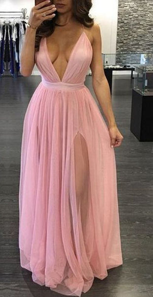 Sexy Prom Dress with Slit, Prom Dresses, Graduation Party Dresses, Formal Wear, Pageant Dress pst1758