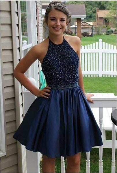 2017 Homecoming Dress, Back To School Dress, Short Prom Dresses For Teens pst1667