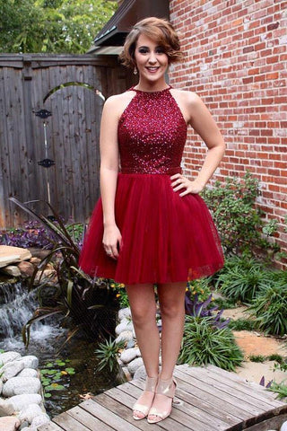 2017 Homecoming Dress, Back To School Dress, Short Prom Dresses For Teens pst1665