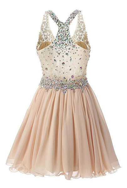 Homecoming Dress With Stones, School Outfit, Short Prom Dresses For Teens pst1670