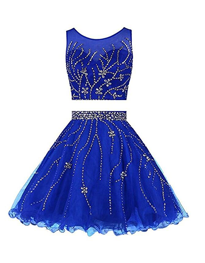 Royal Blue Homecoming Dress, School Outfit, Short Prom Dresses For Teens pst1684