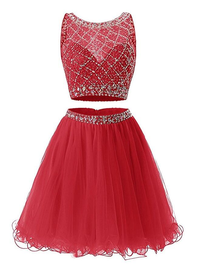 Two Pieces Homecoming Dress, School Outfit, Short Prom Dresses For Teens pst1679