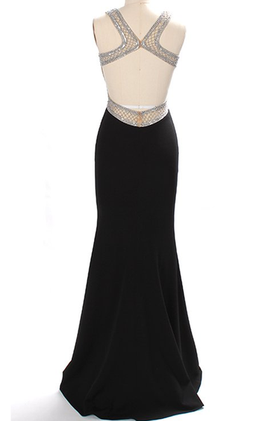 Mermaid Black Prom Dresses Wedding Party Dresses Banquet Gowns