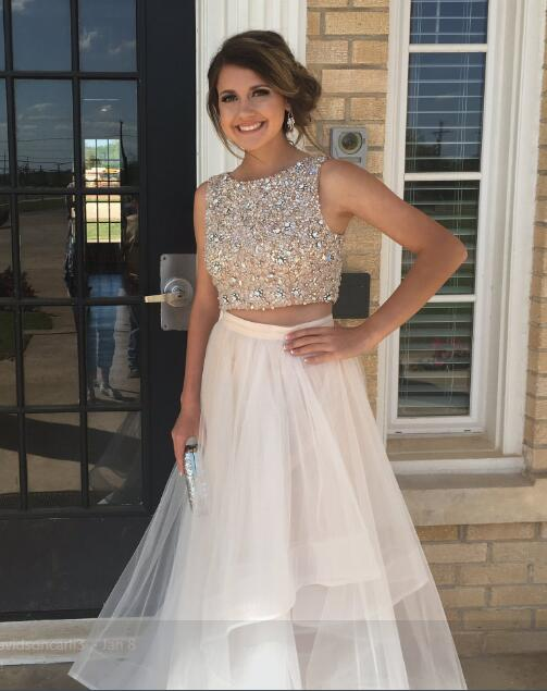 Two Pieces Prom Dress Long, Prom Dresses, Graduation Party Dresses, Formal Wear, Pageant Dress pst1753