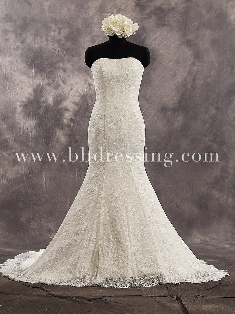 Fitted And Flared Lace Wedding Dress Bridal Gown WD226