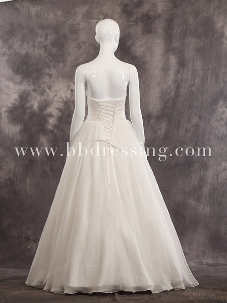 Strapless Sweetheart Neckline Wedding Gown With Corset Back Style WD244