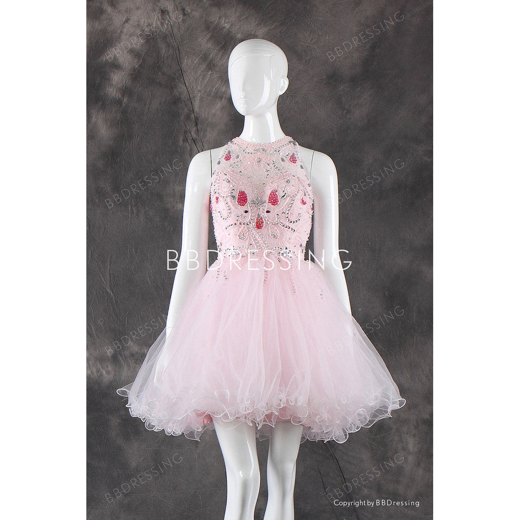 BBDressing Pink Beads Homecoming Dresses bb0001