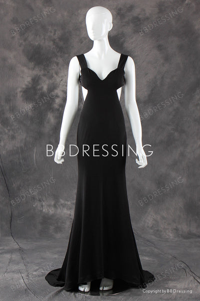 Sexy Black Prom Dress Mermaid Party Dress Backless pst0682