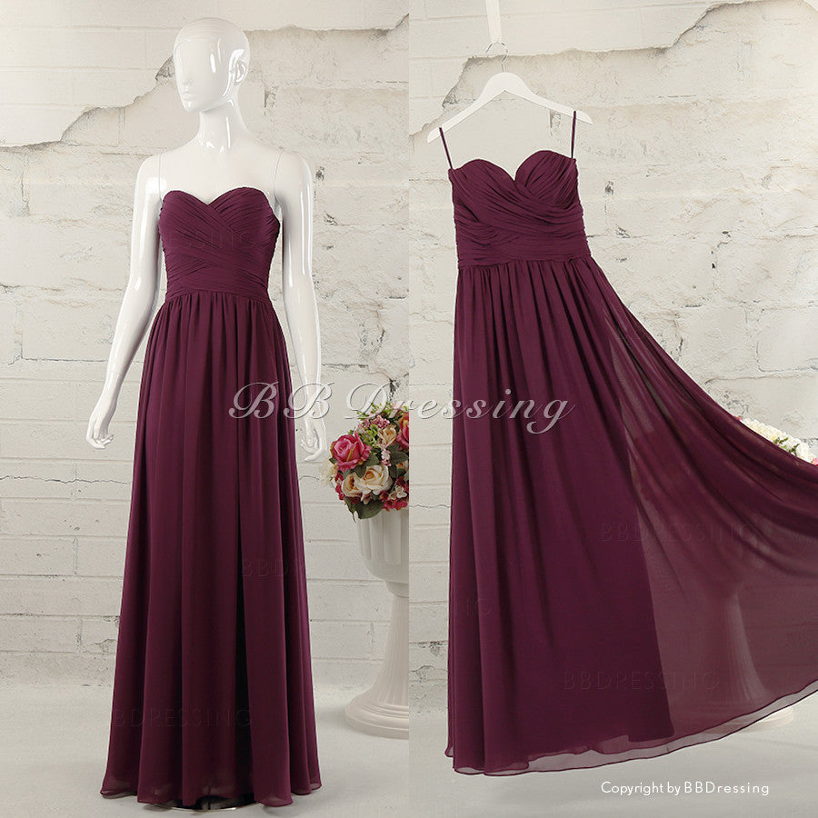 BBDressing Strapless Chiffon Floor Length Gown With Sweetheart Neckline bb0021
