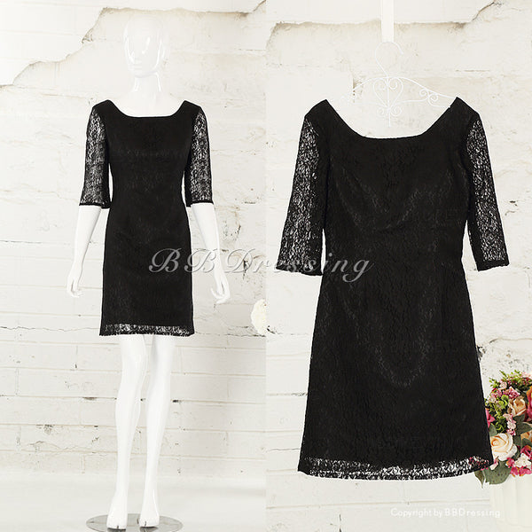 BBDressing Black Prom Gowns with Sleeves bb007
