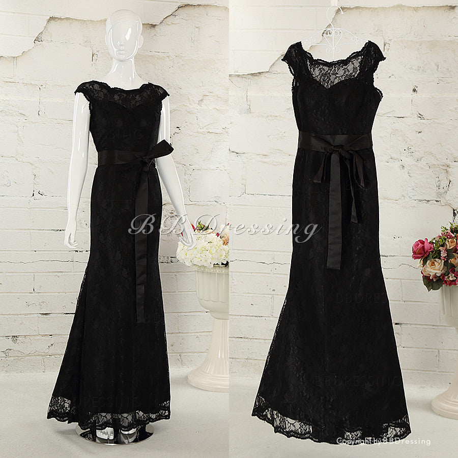 BBDressing Black Lace Celebridy Prom Dresses bb008