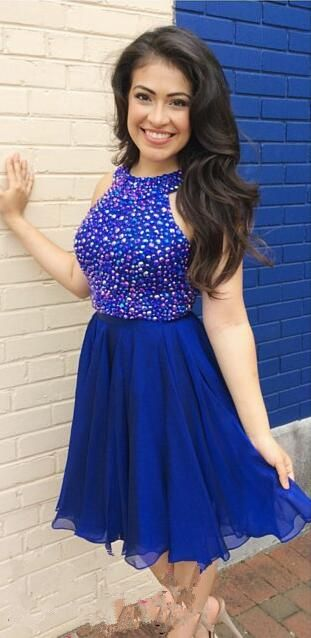 Royal Blue Homecoming Dress,Back To School Dress,Short Prom Dresses For Teens pst1652