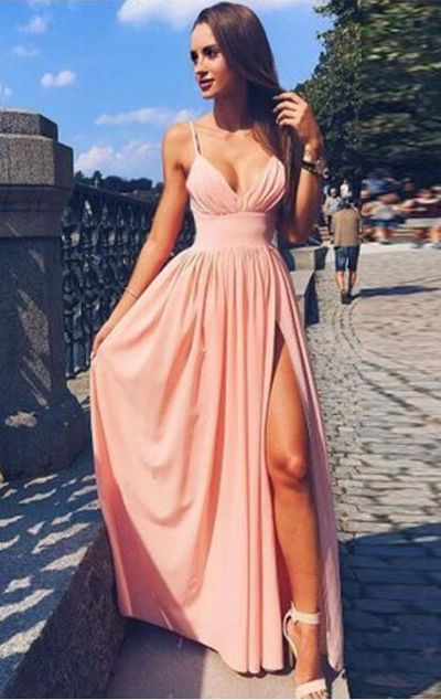 76b9599760 Sexy Prom Dress With High Slit Prom Dresses Graduation Party Dresses Formal  Wear pst1714