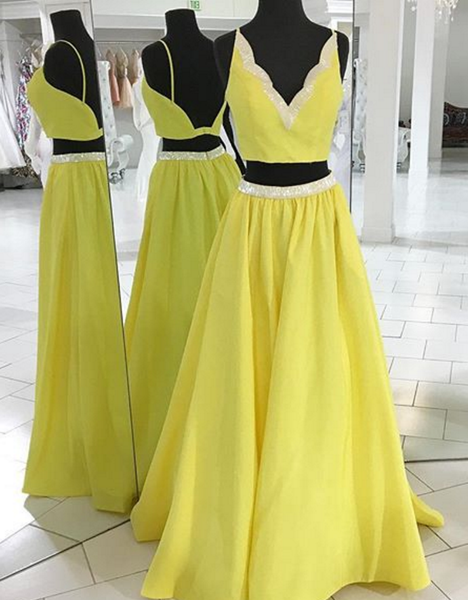 Two Pieces Prom Dress Prom Dresses Graduation Party Dresses Formal Wear pst1718