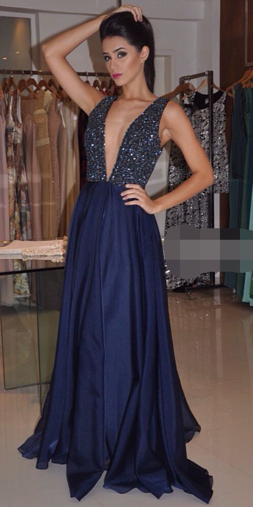Navy Prom Dress Prom Dresses Graduation Party Dresses Formal Wear pst1725