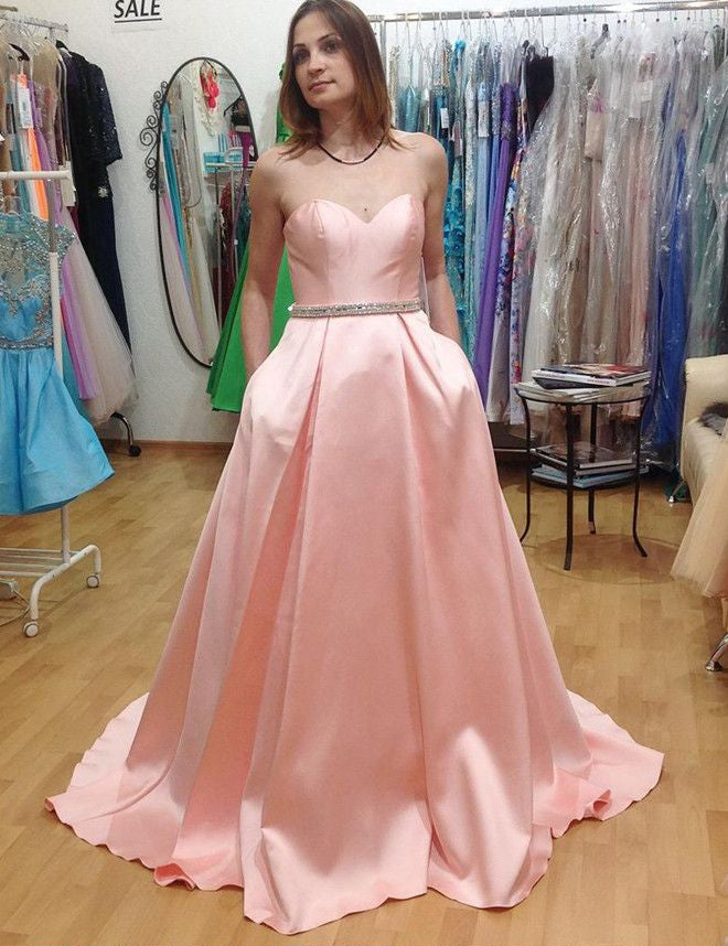 Prom Dress with Pockets Prom Dresses Graduation Party Dresses Formal Wear pst1724