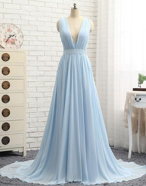 Chiffon Prom Dress Long 2018, Prom Dresses, Graduation Party Dresses, Formal Wear, Pageant Dress pst1743
