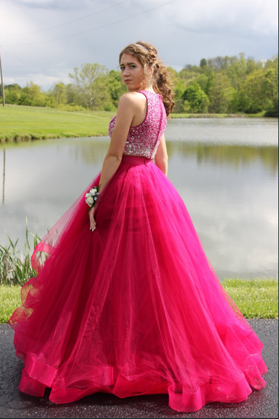Two Pieces Prom Dress Long, Prom Dresses, Graduation Party Dresses, Formal Wear, Pageant Dress pst1755