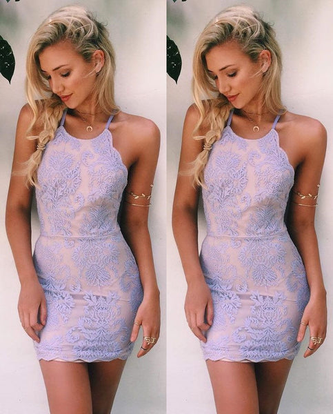 Lace Homecoming Dress, Short Prom Dresses For Teens pst1635