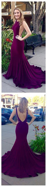 Sexy Long Mermaid Open Back Prom Dresses pst0003