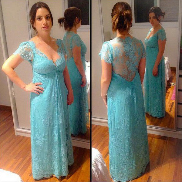 Lace Prom Dress Evening Gown pst0459