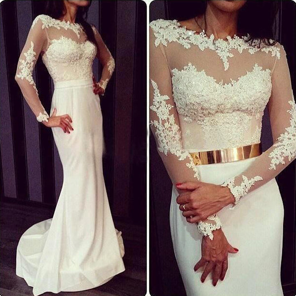 Dress For Prom With Long Sleeves pst0490