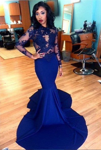 Mermaids Royal Blue Prom Dress Cocktail Dresses pst0500