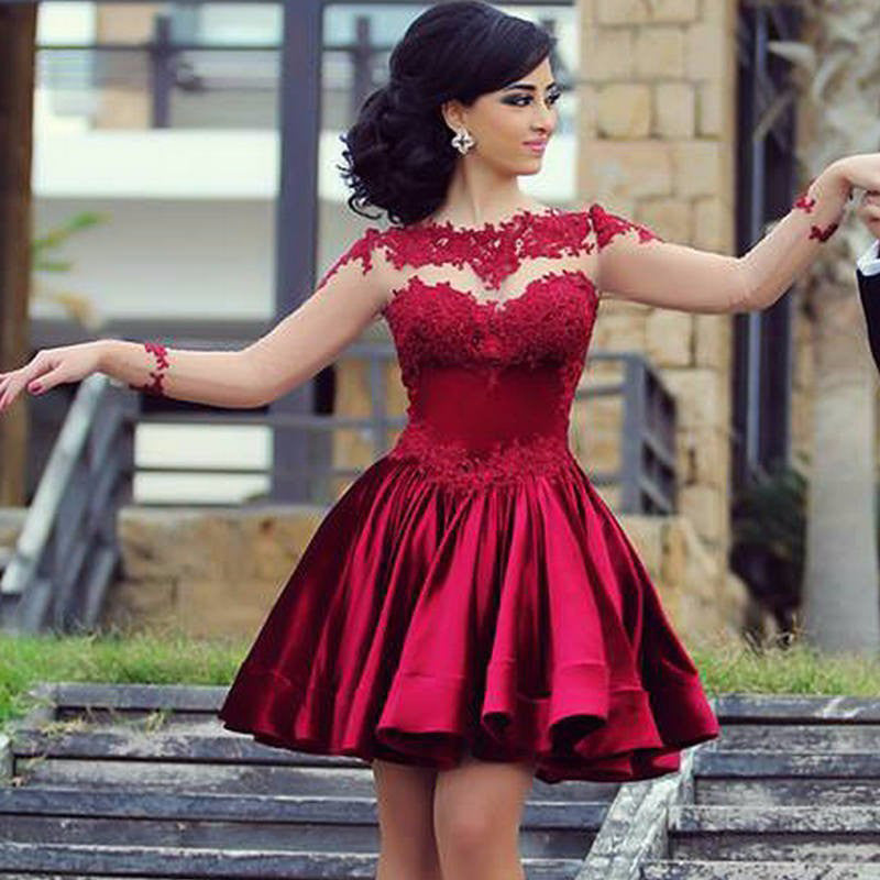 Short Red Prom Dress Party Gown pst0501