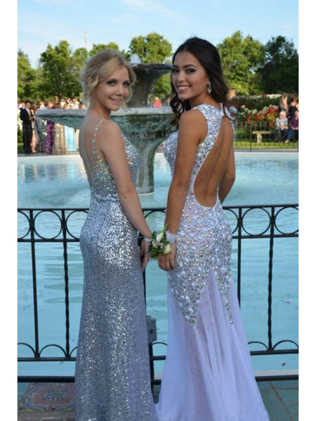Backless Long Prom Dress Made to Order Color Free pst0504