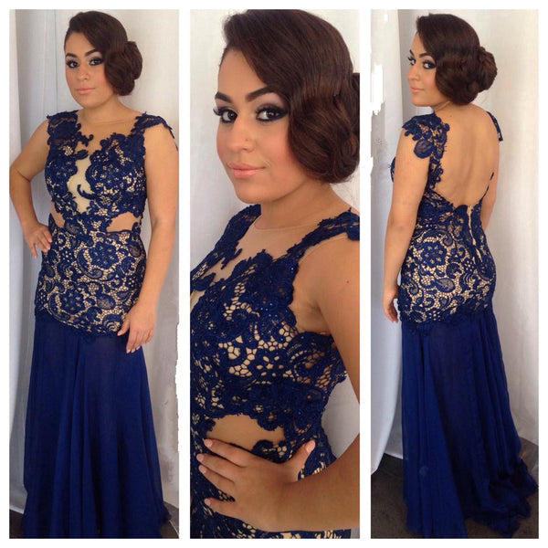 Blue Color Prom Party Dress for Special Occasion pst0530