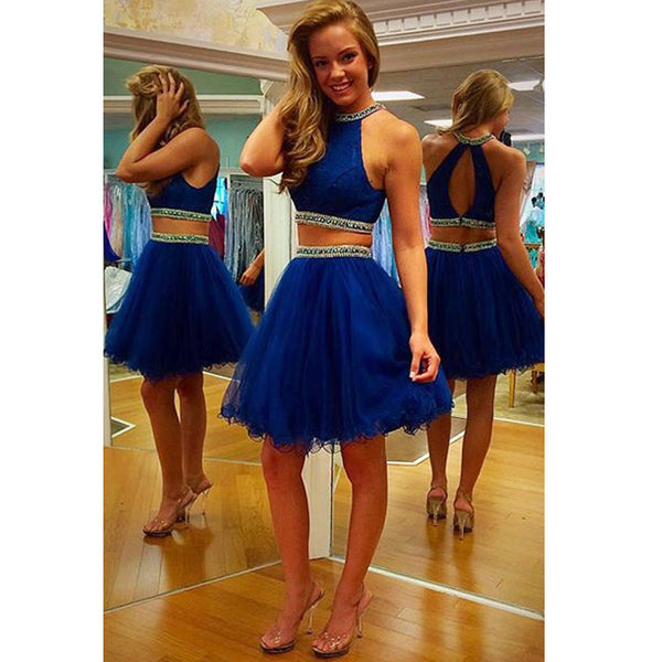 Short Homecoming Dress Prom Dress Top and Skirt Separate in Two Pieces pst0555