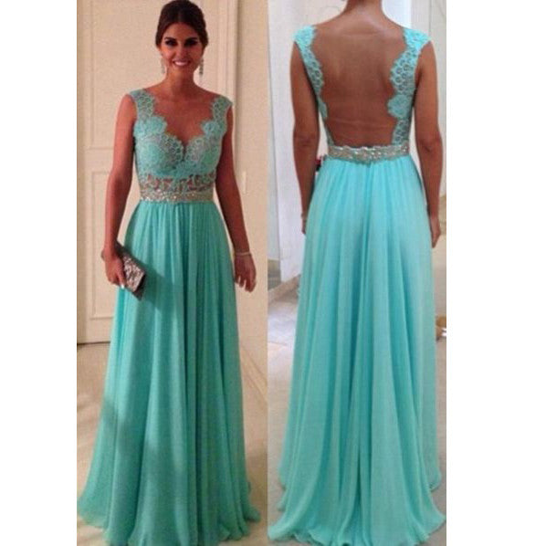 Dress for Prom with Illusion Back pst0557