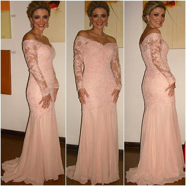 Mother Of The Bride Dress Evening Dress with Full Long Sleeves pst0558