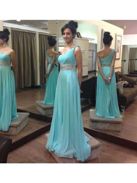 One Shoulder Strap Long Prom Dress Evening Party Dresses pst0620