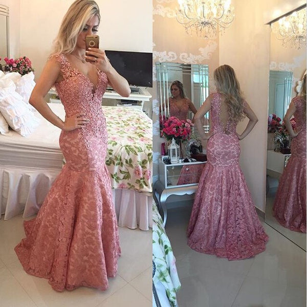 Lace Prom Dress Evening Party Dress pst0623